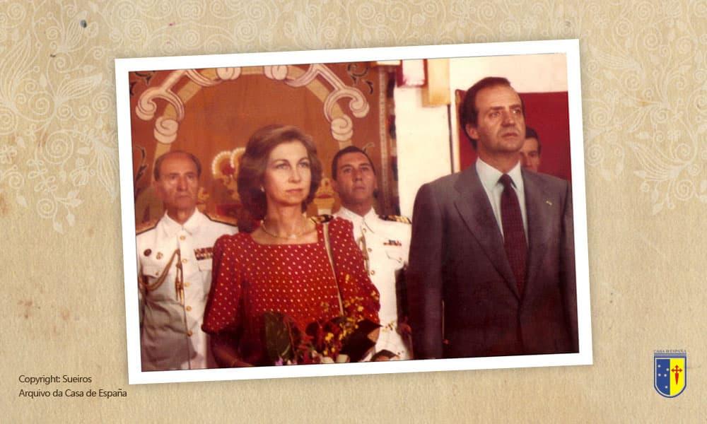 Foto do Rei Juan Carlos I e da Rainha Sofia